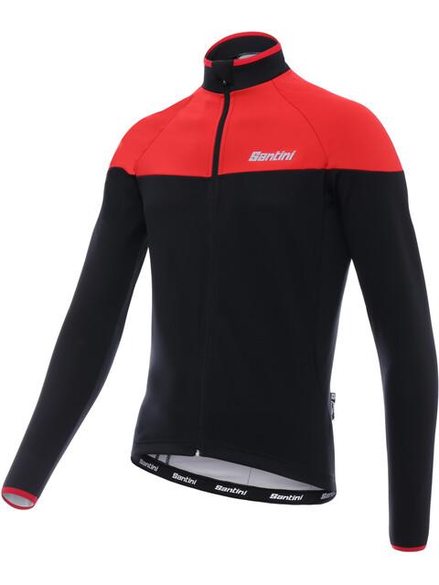 Santini Hermes Langærmet cykeltrøje Herrer rød/sort